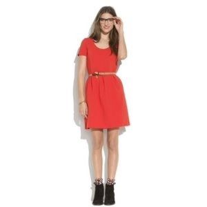 Madewell bistro dress in red in size 0